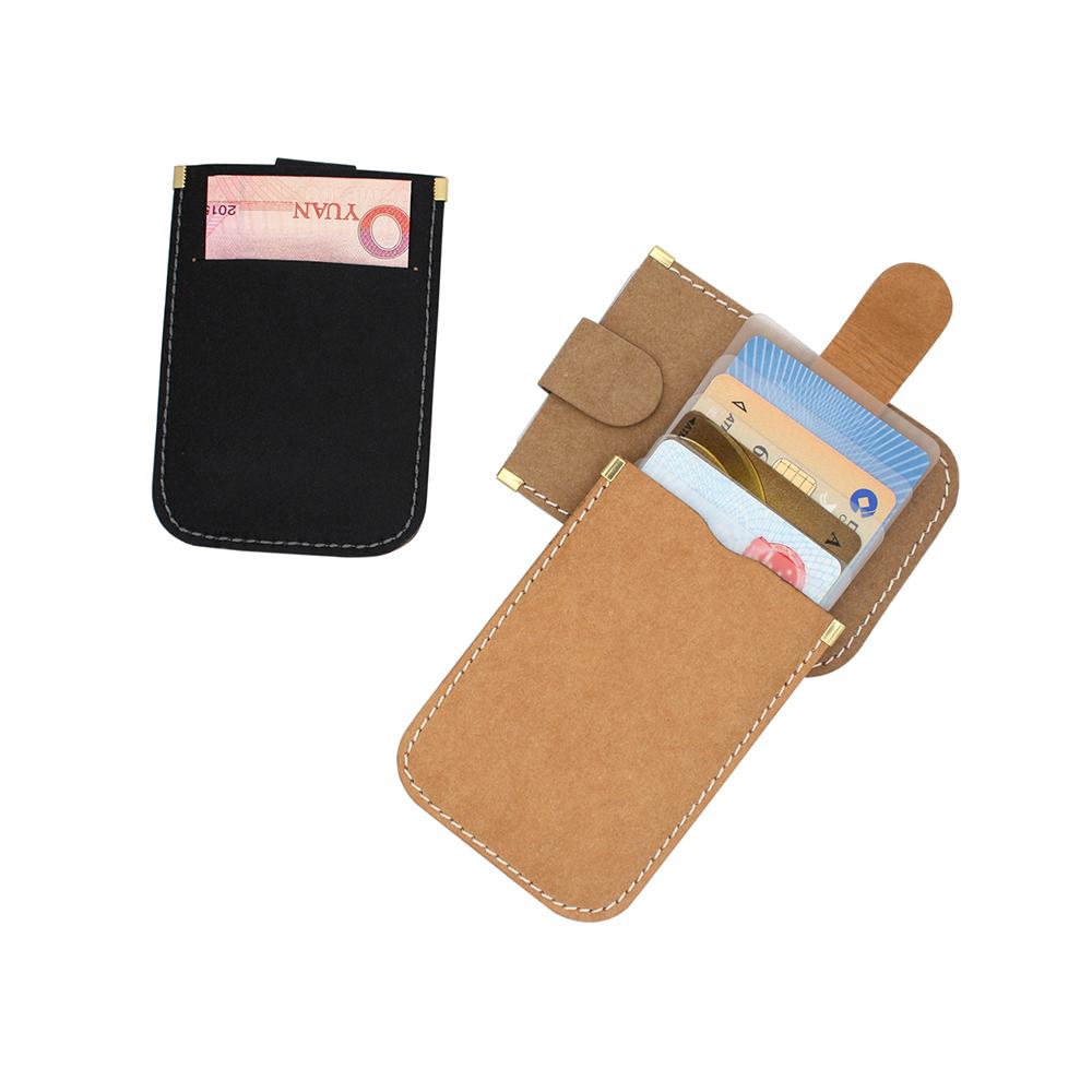 水洗牛皮纸层叠式抽拉卡包随身银行卡套超薄卡片包名片夹简约钱包