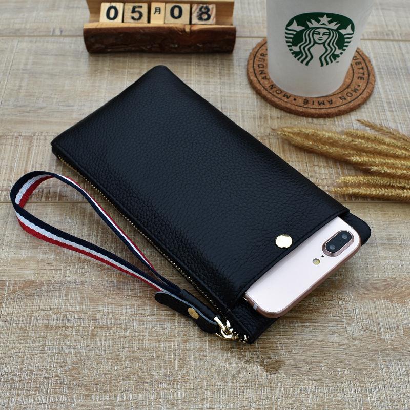 Leather handbag womens 2020 new ultra thin soft leather mini pocket bag leather wallet mobile phone bag