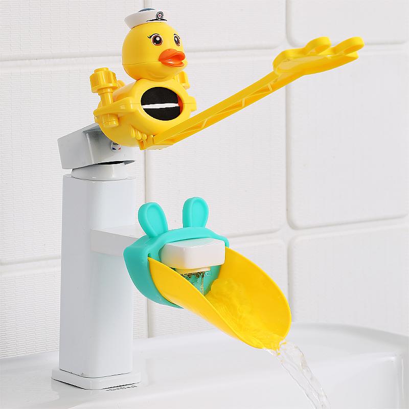 宝宝水龙头延伸器儿童卡通洗手延长器硅胶导水槽接水引水神器小孩