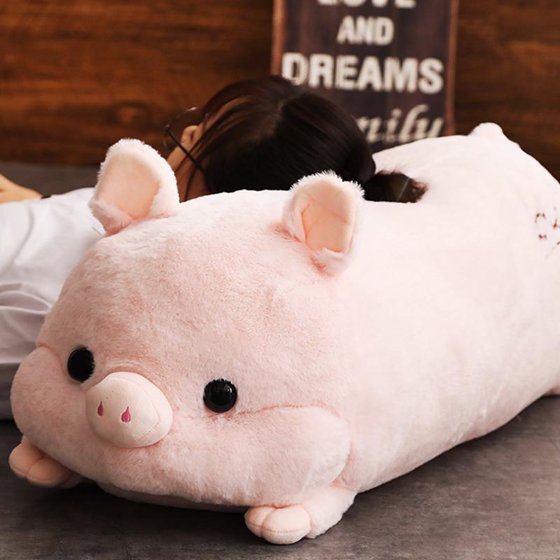 猪猪暖手抱枕插手公仔毛绒玩具可爱大号陪睡觉布娃娃男女孩玩偶萌