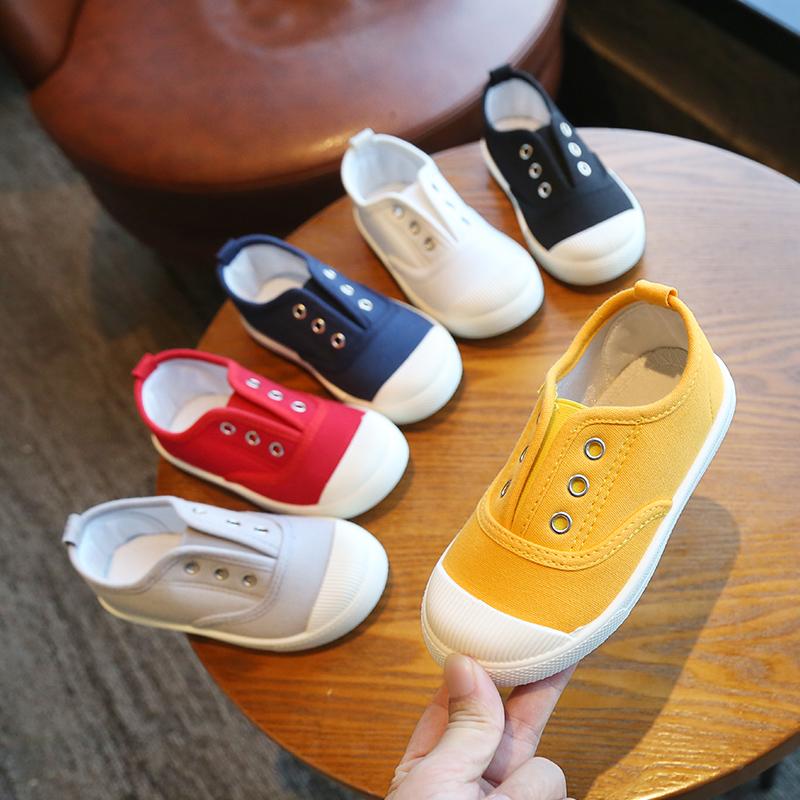 儿童帆布鞋童鞋男童鞋子板鞋女童2019年春秋布鞋新款韩版休闲单鞋