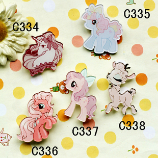 Cheap factory outlets in Japan Harajuku Harajuku badge brooch brooch cute pony Harajuku Hot Toys
