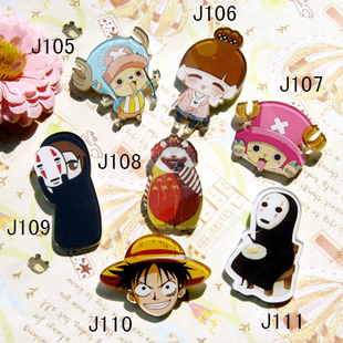 Acrylic badges custom personalized brooch cartoon Harajuku Piece Chopper Luffy Faceless man
