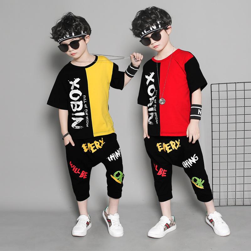 帅气儿童夏装嘻哈套装男童街舞时尚服装小孩衣服潮流男孩夏季个性券后49.00元