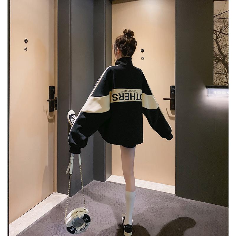 2020年新款春装女卫衣ins潮宽松韩版春秋情侣装薄款慵懒盐系外套图片