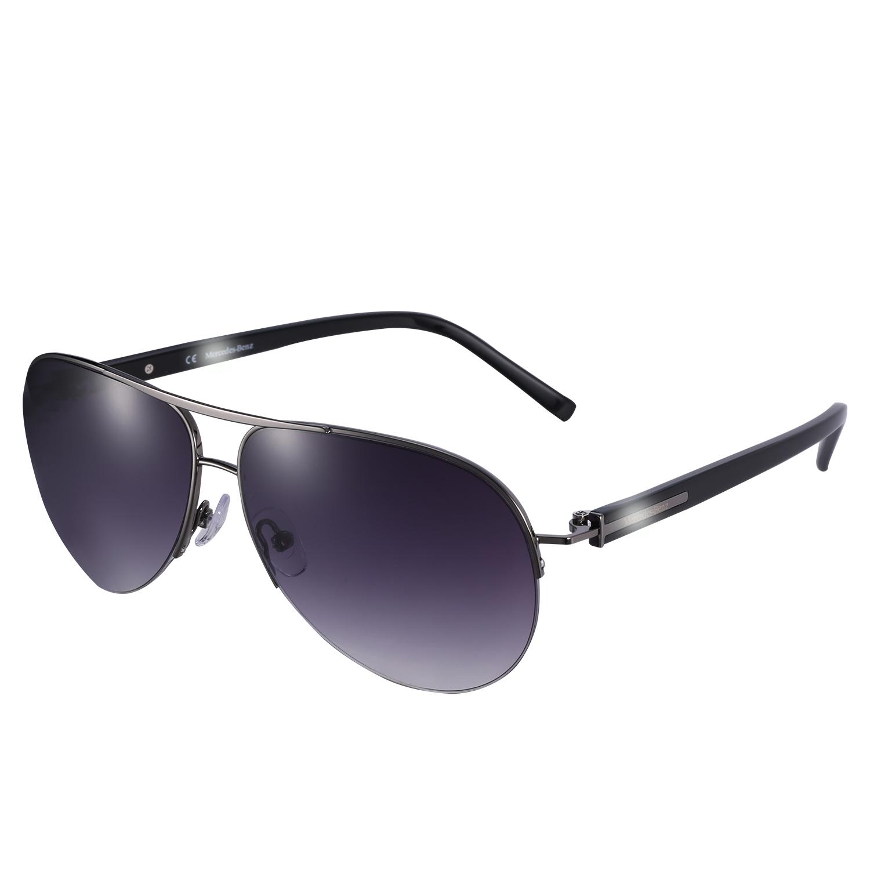 4S store Mercedes Benz BMW original Sunglasses New Mens Mercedes Benz driver pilot half frame sunglasses