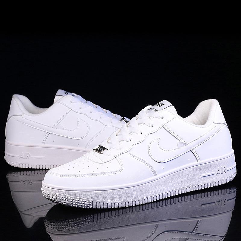 新款空军一号AJ1低帮小白鞋男学生纯白色小麦色嘻哈韩版潮莆田鞋