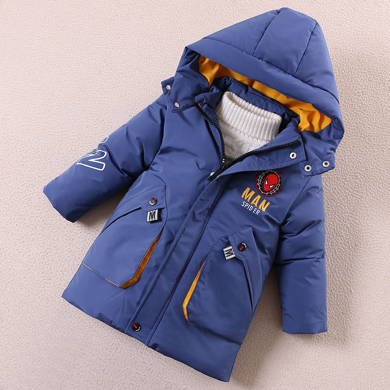 Childrens winter clothes boys cotton padded jacket 2020 new Korean medium length childrens down cotton padded jacket childrens padded jacket thickened coat