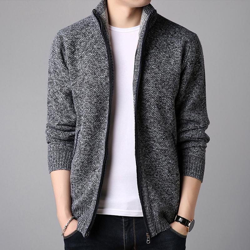 啄木鸟男装春秋季新款休闲针织衫外套