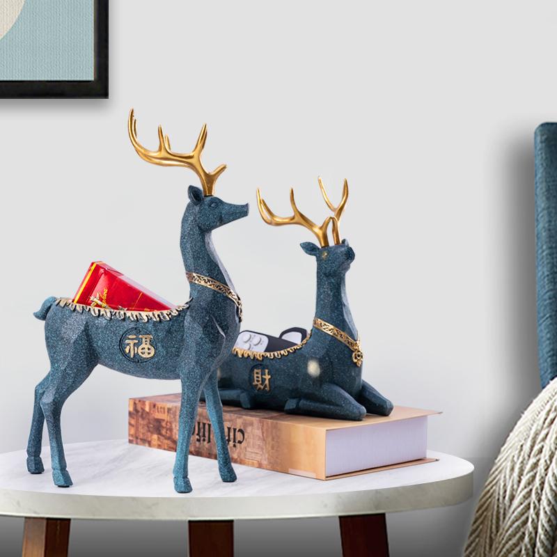 创意家居摆件北欧ins钥匙收纳盒简约客厅电视柜玄关装饰招财用品