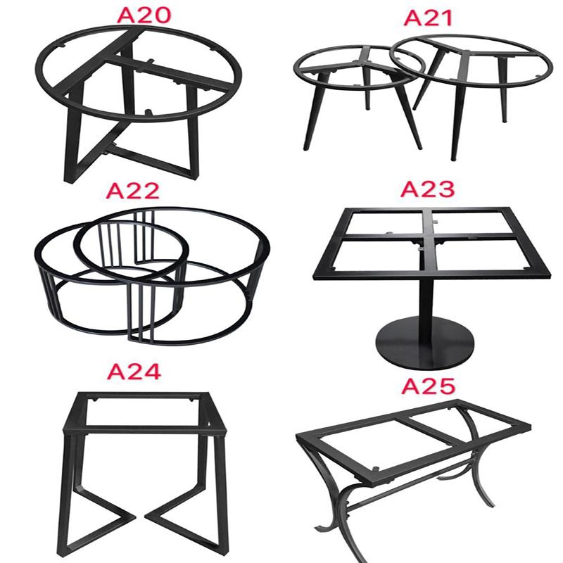 辦公桌腳吧臺茶幾架子大理石餐桌腿支架定制鐵藝桌腿實木大板桌架