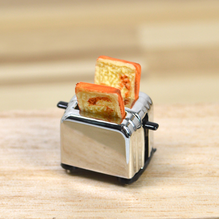 1: 12 points miniature food play kitchen scene model small cloth ob11 doll house accessories Mini simulation bread machine