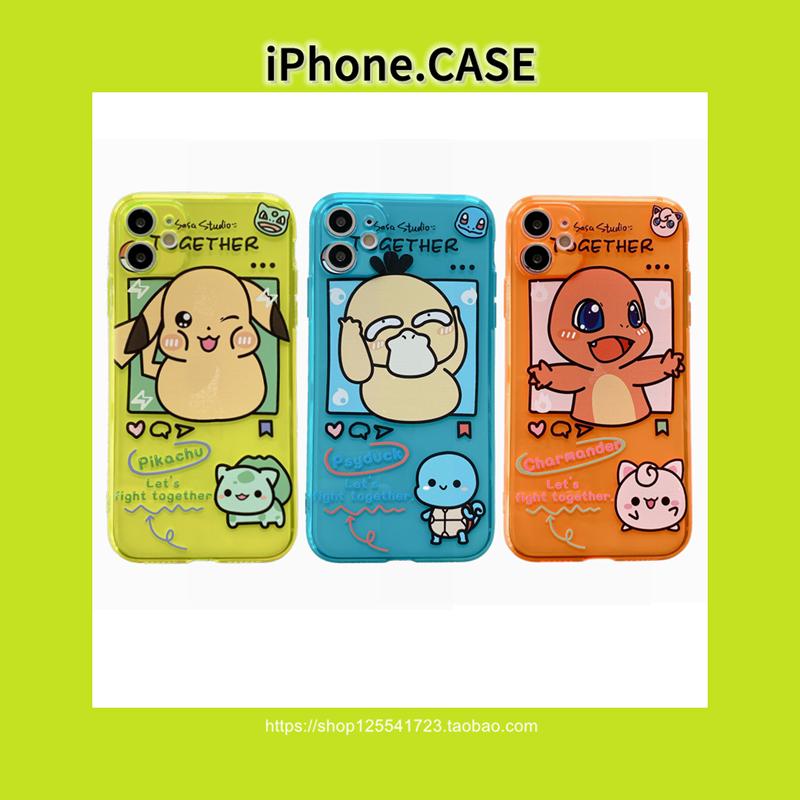 甜猪猪宠物小精灵适用iPhoneX手机壳苹果11全包7/8/9潮牌SE可达鸭