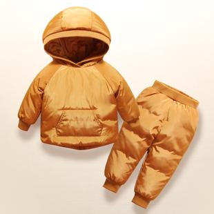 新品兒童羽絨服套裝正品女童套裝男童裝寶寶女嬰兒幼兒款反季特價