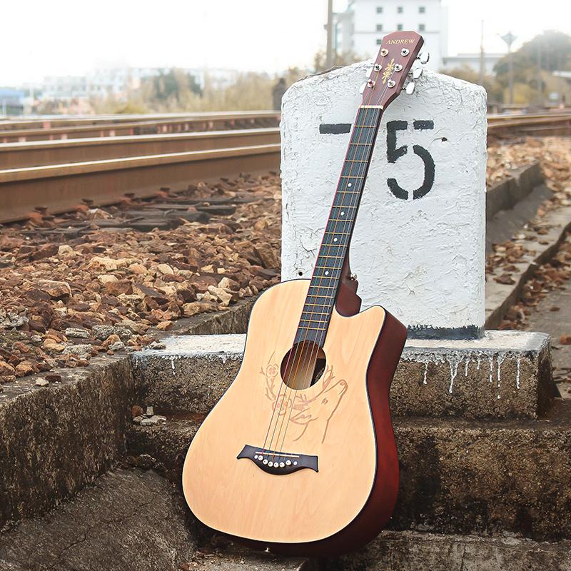 安德鲁38寸民谣吉他初学者学生用成人女男新手入门jita乐器木吉他