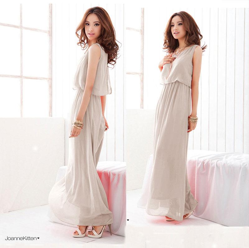 雪纺连衣裙2020春夏季新款韩版高腰修身显瘦气质假两件中长款裙子
