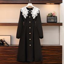大码女装2021秋冬装新款胖妹妹时尚显瘦洋气百搭减龄长袖连衣裙女