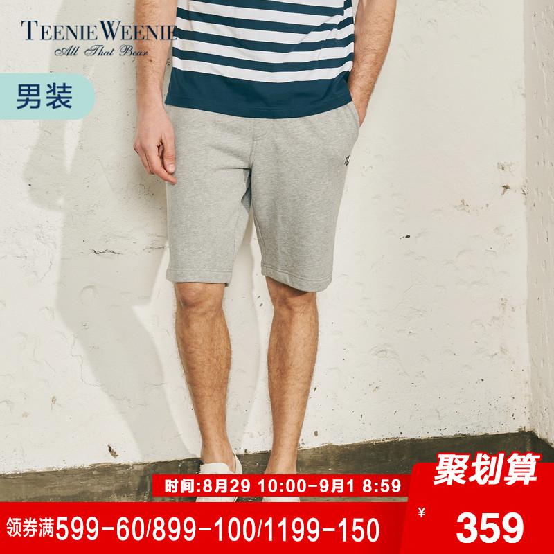 Teenie Weenie小熊2018夏季新款男装休闲短裤韩版裤子TNMT82404A