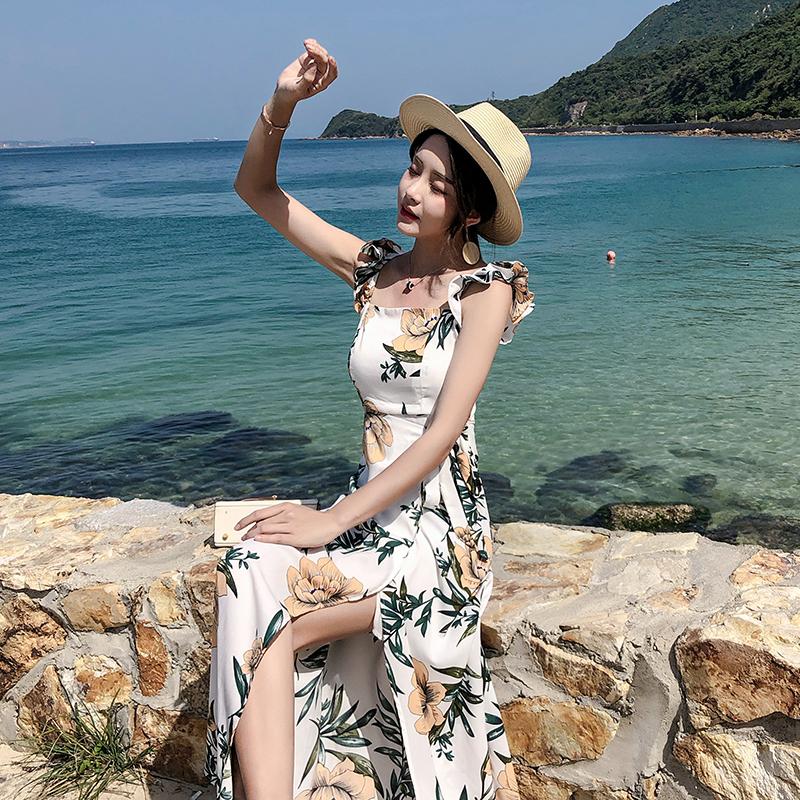 草原旅游出游必备衣服女夏云南女装丽江名族风夏季度假旅行吊带裙