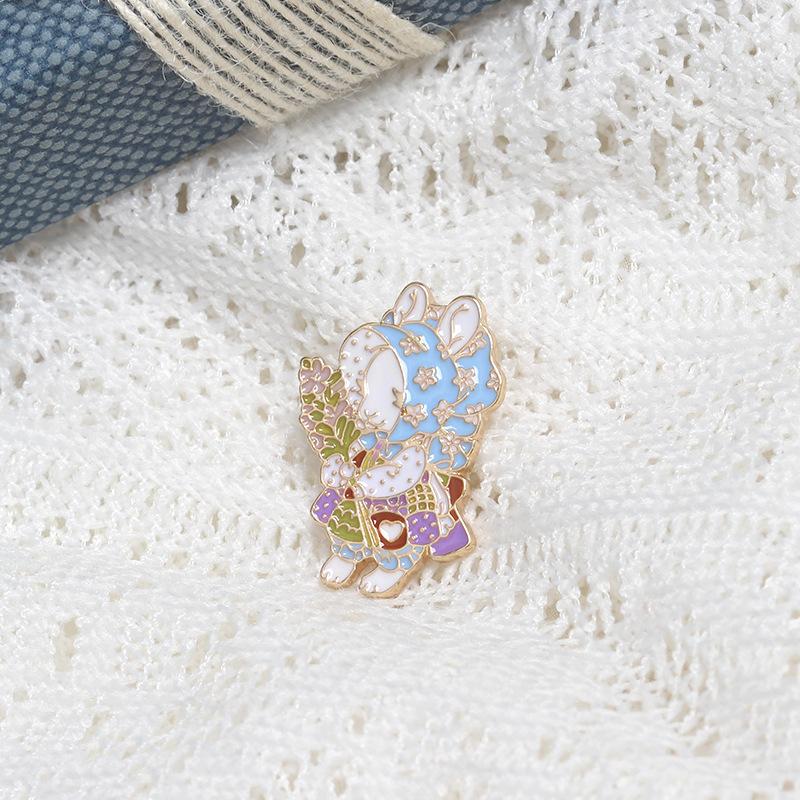 Dream Star Jewelry Japanese girl lovely Brooch cartoon lamb ANIMAL BADGE student gift bag corsage