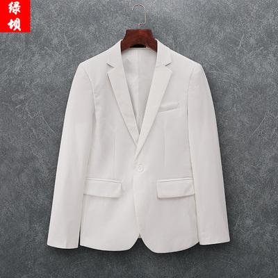 春季西装白色男士外套休闲西服2020上衣单西韩版潮修身男结婚礼服