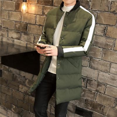 已质检 涂盛冬装新款男装长款棉衣 A014-M12-P135 军绿色