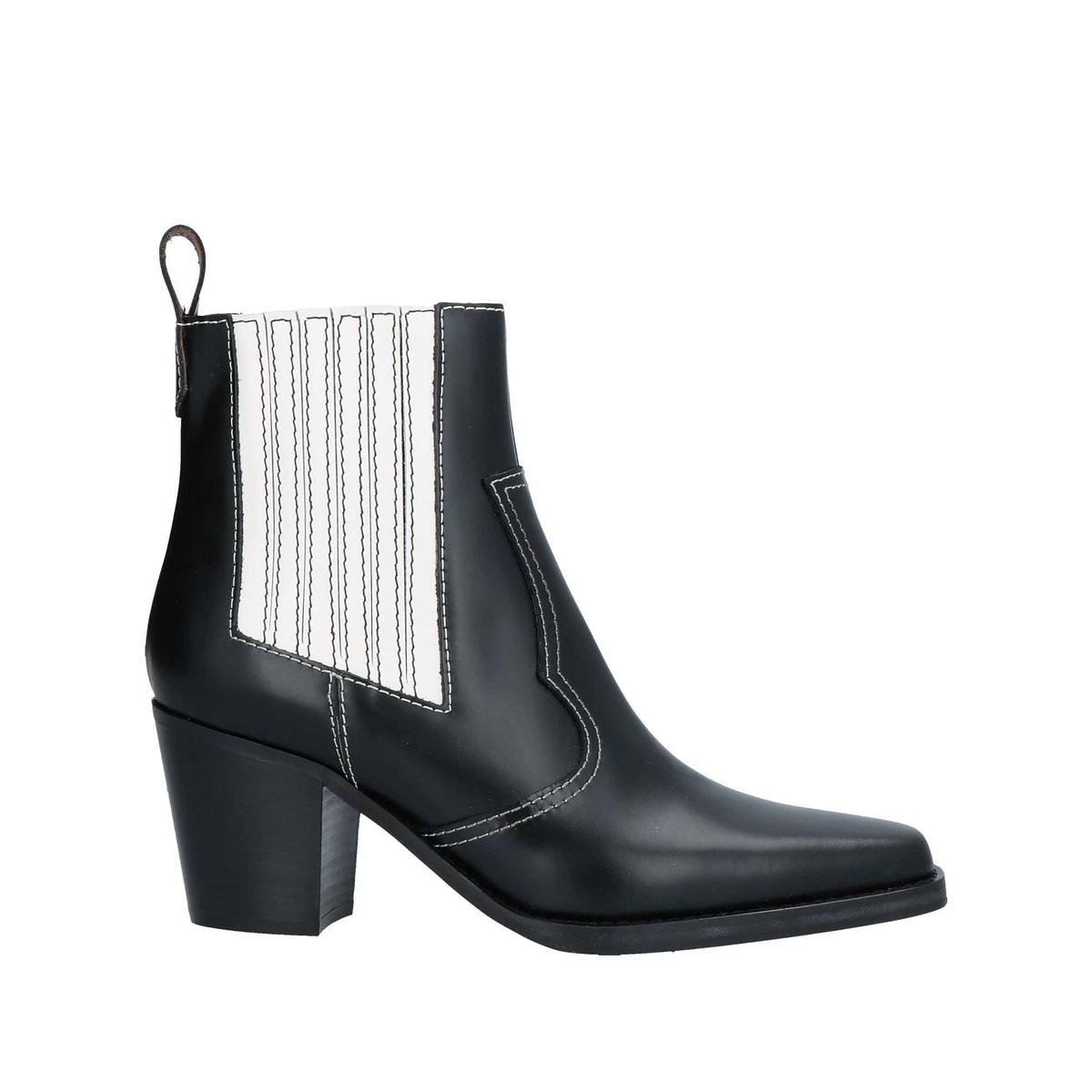 包税代购Ganni 脚踝靴2021新款奢侈品冬季女靴袜靴高跟鞋网红百搭