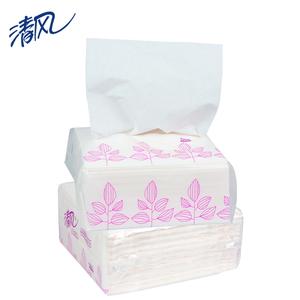 清风B115A抽纸 150抽面巾纸正方形 小方抽餐巾纸 多省-100包