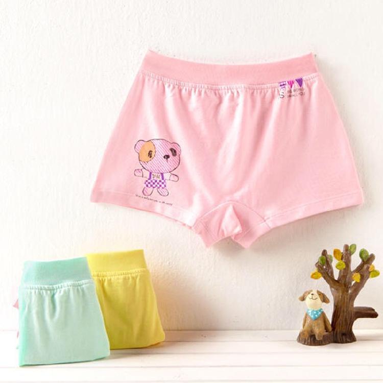 Parcel post baby underwear Dingwei dog childrens underwear girl baby bamboo fiber cotton Lycra flat leg shorts