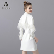 Situo dress 2019 new autumn ladies suit temperament white dress high end party dress can be worn at ordinary times