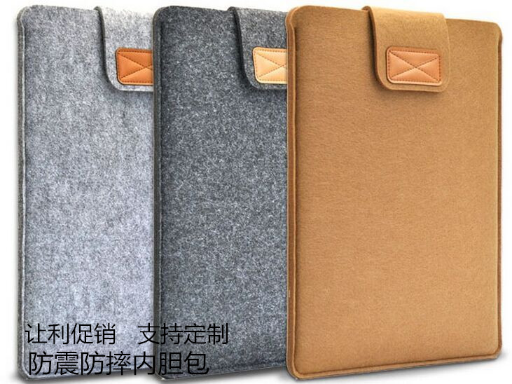 Tablet computer case made of felt cloth iPad inner case case 7 / 8 / 10 / 11 / 13 / 15 inch