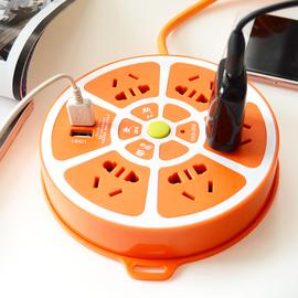 多功能USB插座家用多用插排插板带线多孔拖插线板接线板延长线米图片