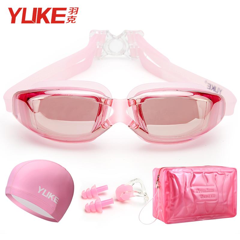 近视高清防水防雾女士游泳眼镜泳镜(非品牌)