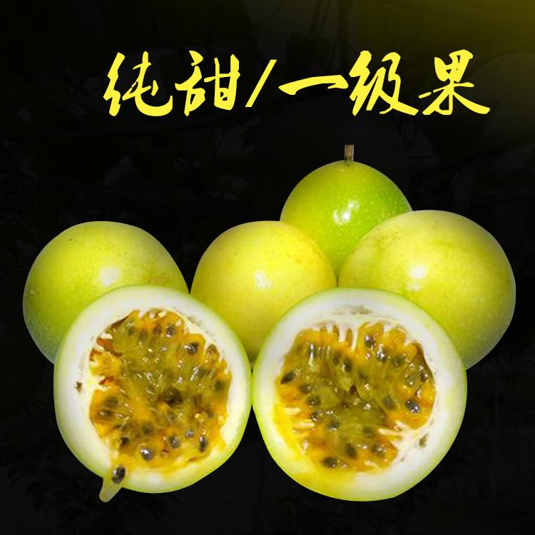 广西黄金百香果5斤芭乐味台湾品种黄色特级香甜一级果大个大果甜