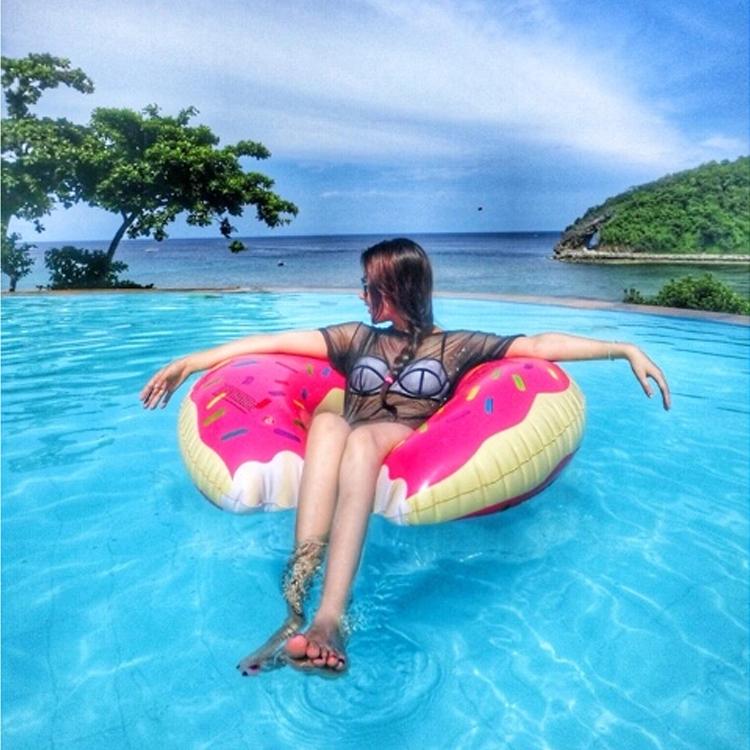 Пончик плавать круг для взрослых женщина подмышка кольцо газированный спасательный круг спасательный круг больше и толще плавательные круги дары насос