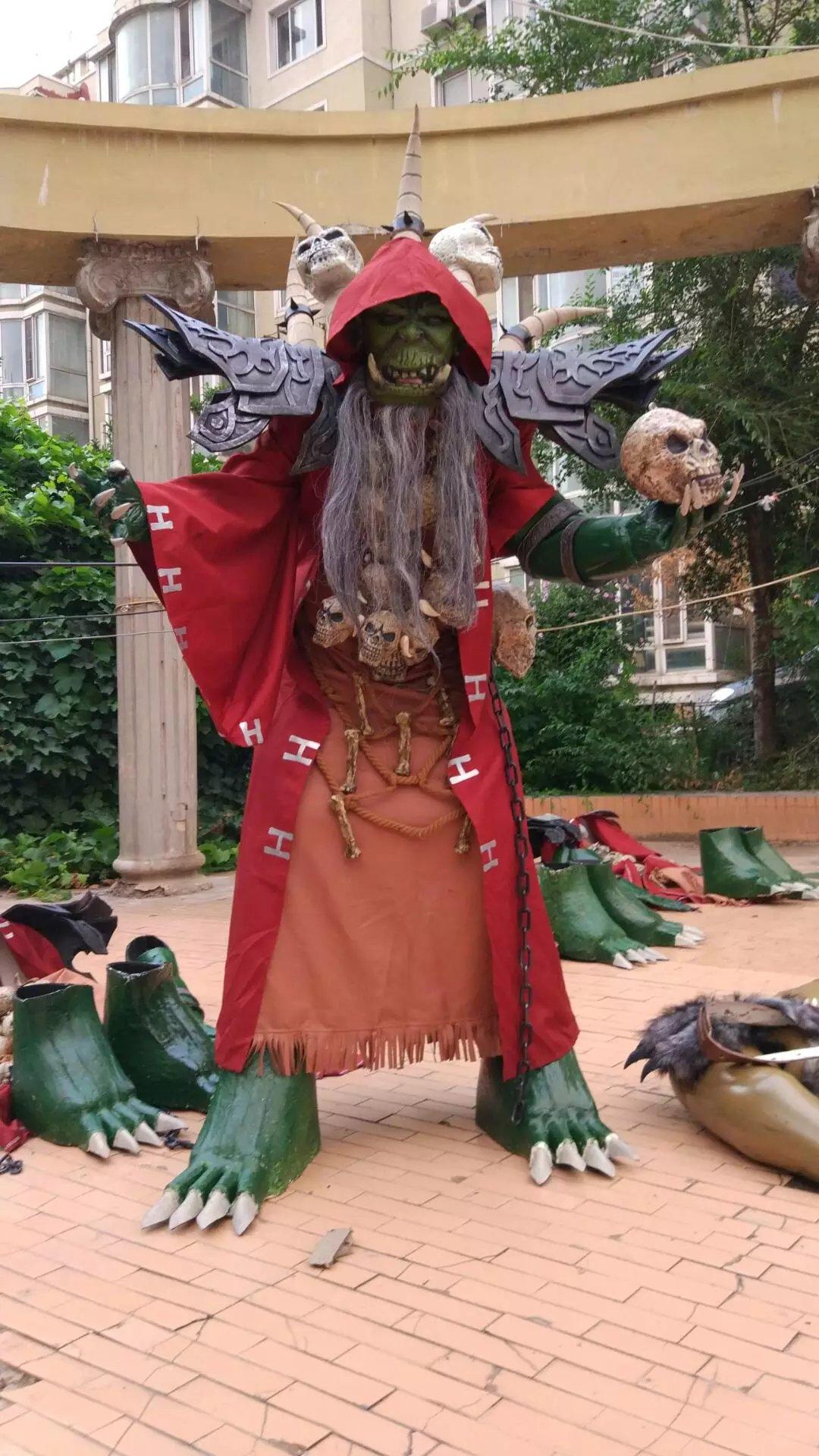 魔兽世界wow魔兽争霸2米高兽人古尔丹cosplay服装道具魔兽系列