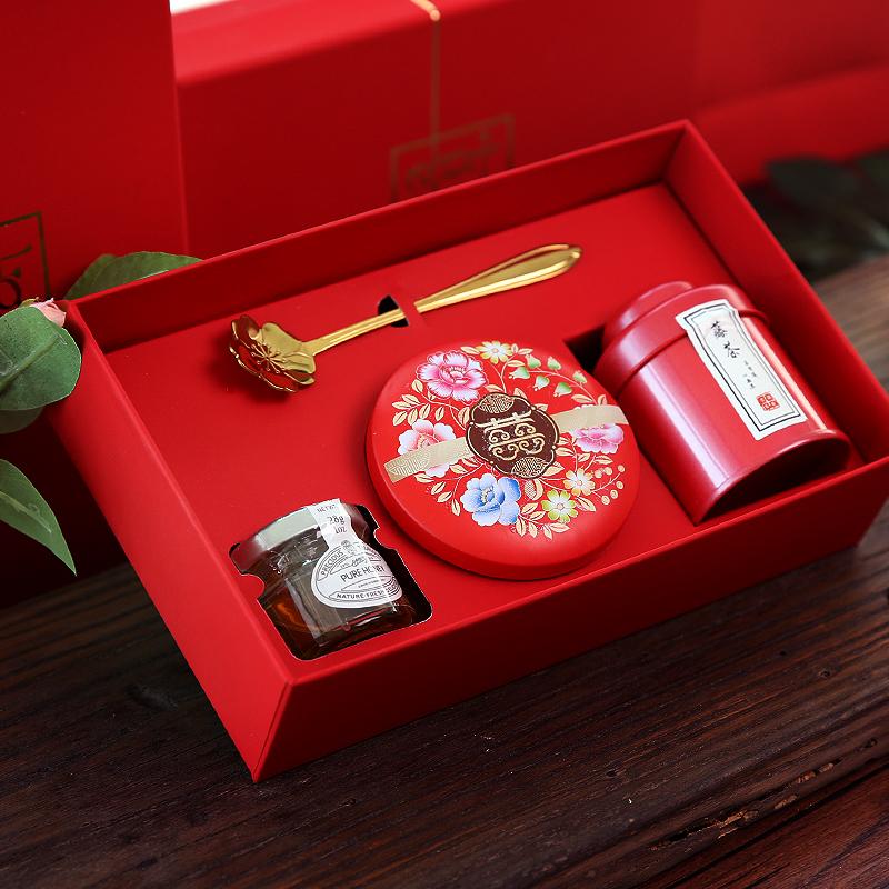 婚礼伴手礼中式结婚创意中国风喜糖券后18.50元