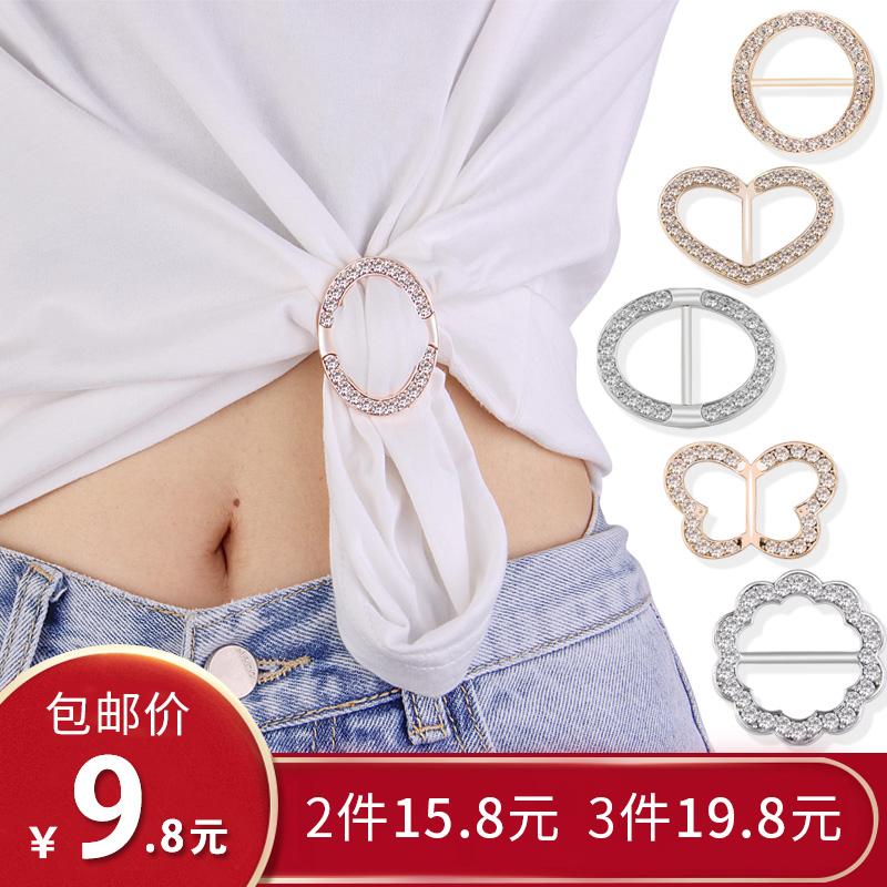 韩国高档扣环衬衣角打结扣两用t恤券后6.90元