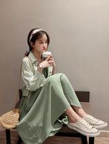 雪纺吊带连衣裙女夏法式洋气气质显瘦仙女超仙森系裙子套装两件套