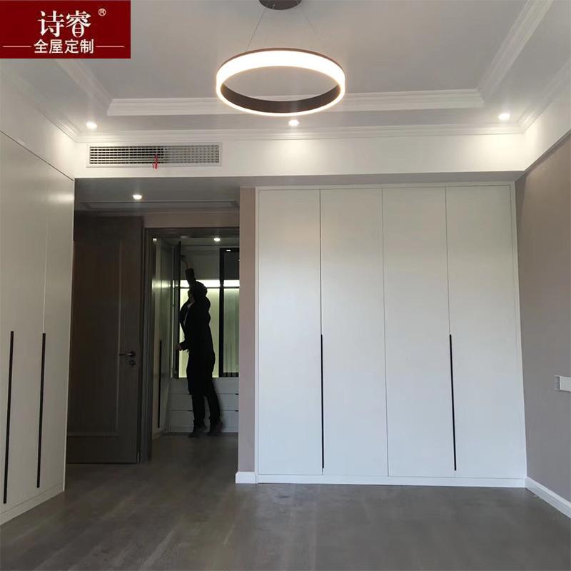 上海工厂定做兔宝宝衣柜步入式衣柜整体衣柜卧室环保家具全屋定制