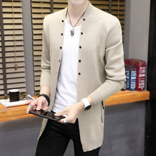 Fall thin men's jackets, fashion, self-cultivation knitted sweaters, autumn sweaters, cardigans, individualized Korean version sweaters
