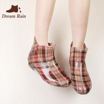 春夏时尚透明雨鞋女水鞋女短筒雨靴韩国大人四季防滑水靴胶鞋套鞋