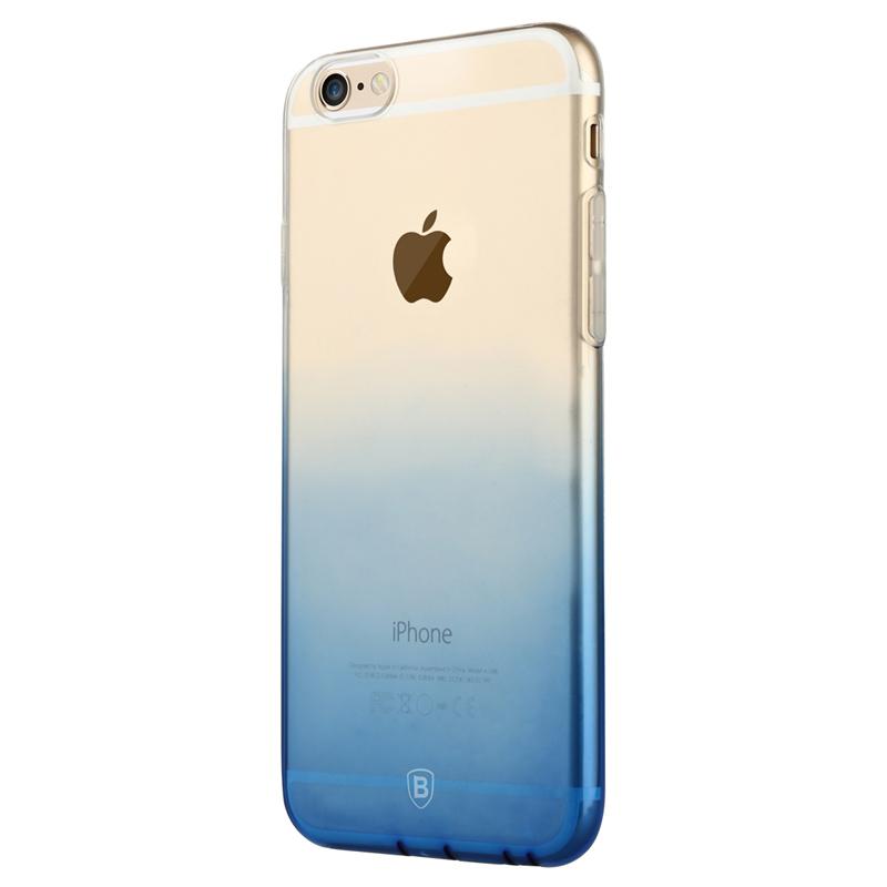 倍思iPhone6s手機殼蘋果6plus漸變色矽膠軟保護套全包防摔男女款