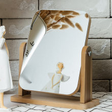 新しい木製デスクトップ西ヨーロッパの一方向ミラーバニティミラーサブグレードのシルバーパールオーバル化粧鏡創造的バレンタインデーの贈り物