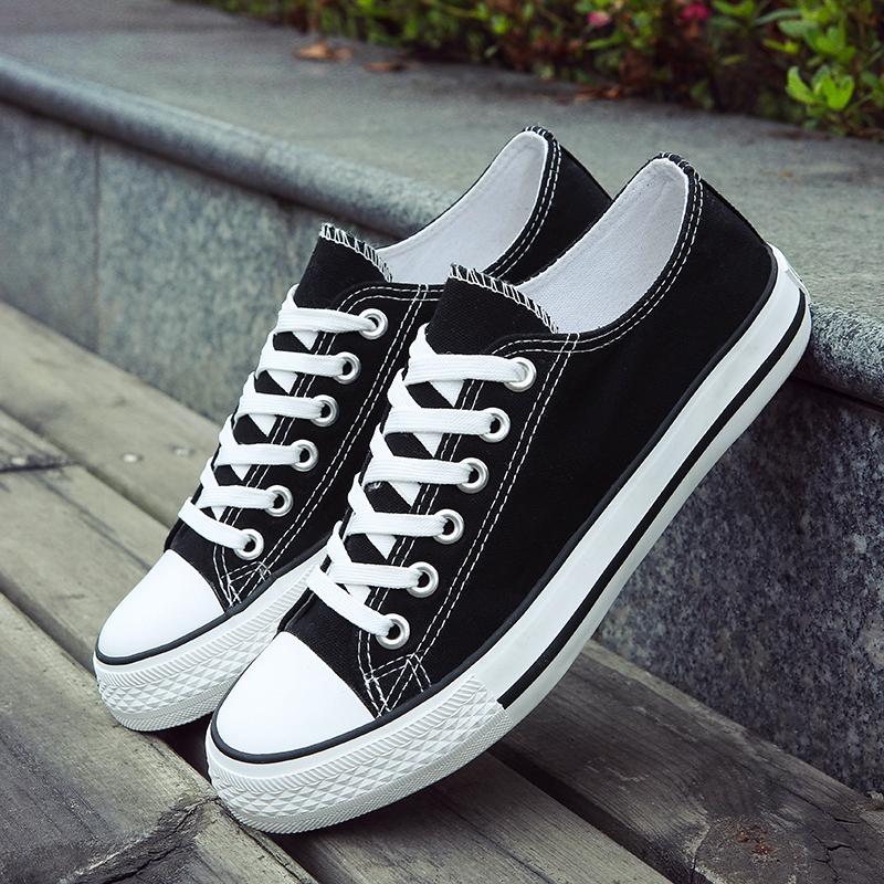 夏季男士帆布鞋男鞋休闲鞋男韩版学生布鞋潮板鞋情侣低帮小白鞋子