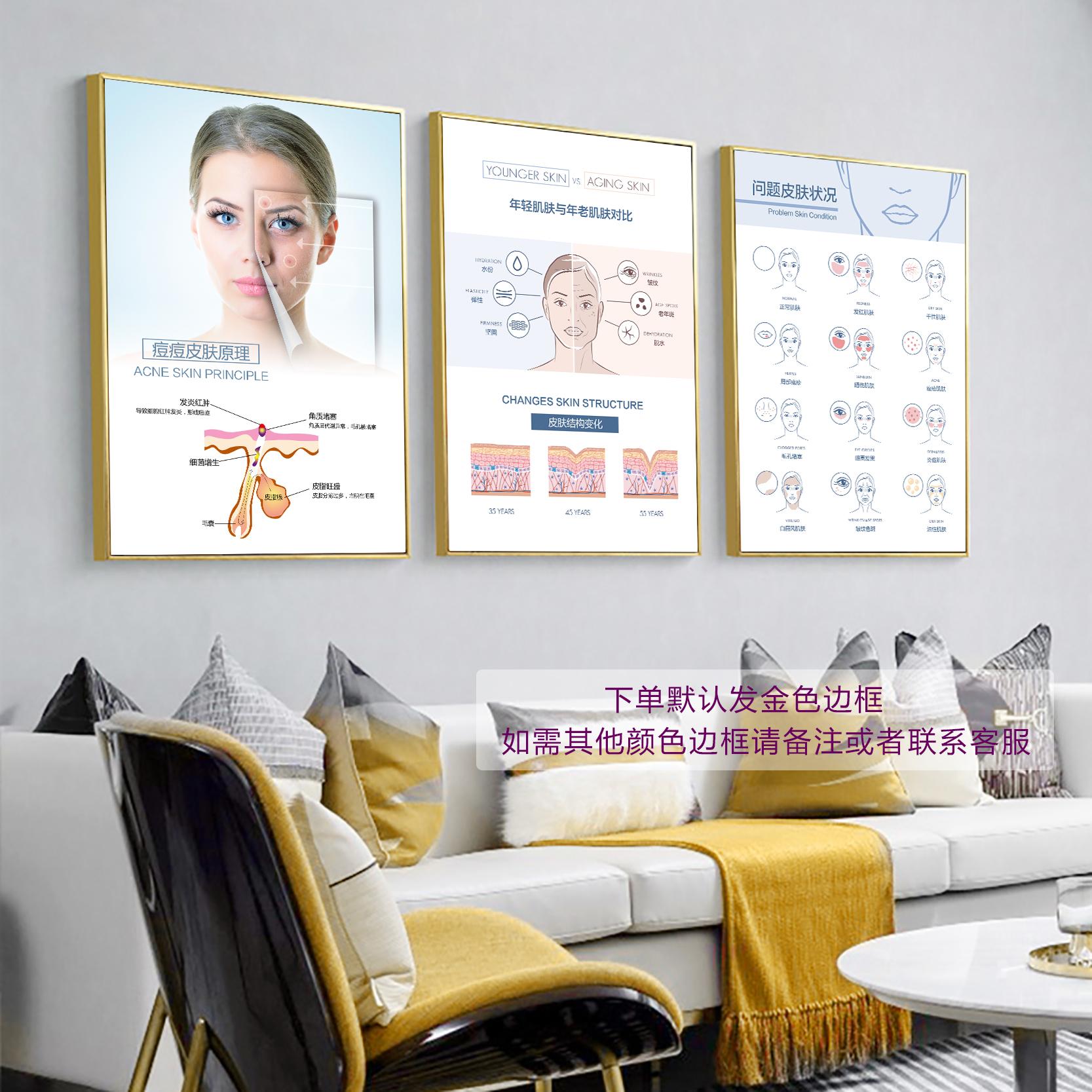 美容院皮肤管理祛痘祛斑工作室挂画