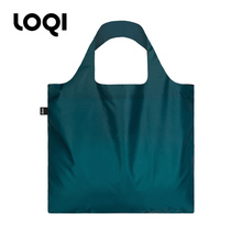 Germany loqi solid color series fashion shopping bag light foldable environmental protection bag large capacity single shoulder bag spring roll bag