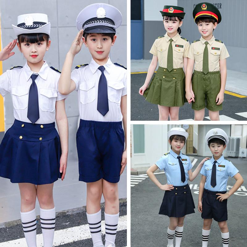 儿童军装陆军套装小海军演出服空军表演学生合唱团幼儿男女童朗诵