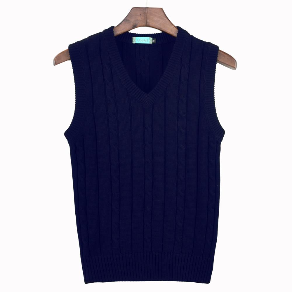 Aw19 twist sweater vest vest vest vest V-neck twist knit sleeveless shoulder set womens Republic of Korea solid color package