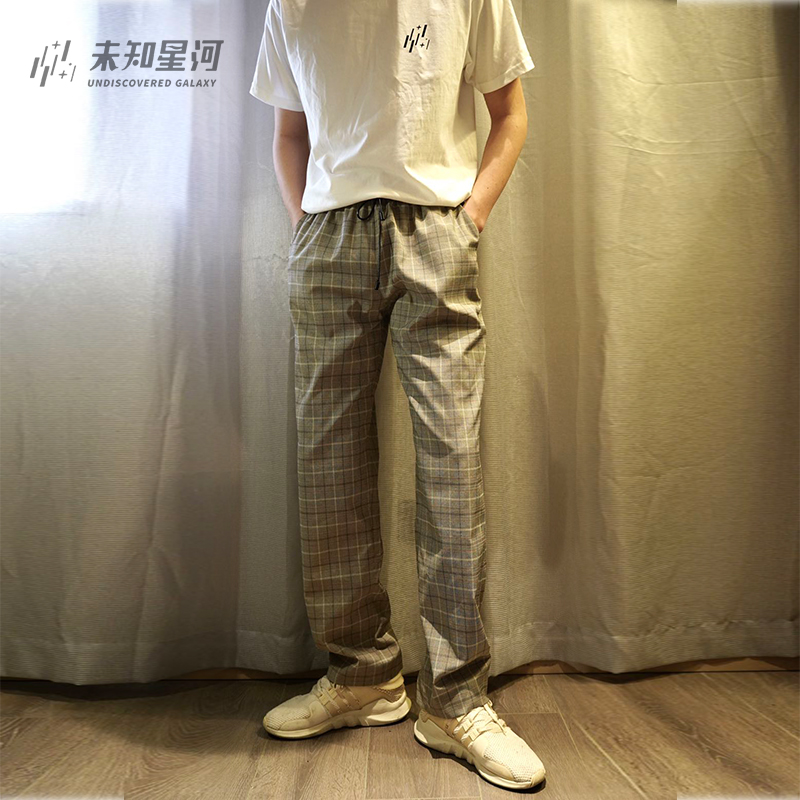 Summer 2020 new unknown Galaxy first year design mens and womens breathable lightweight Plaid trend plaid pants